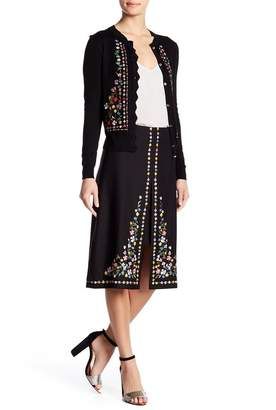 Ted Baker Hampton Embroidered A-Line Skirt