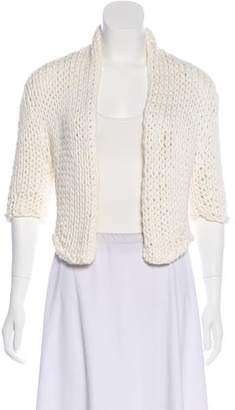 Brunello Cucinelli Cropped Open Front Cardigan
