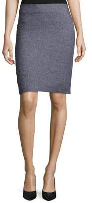 Giorgio Armani Houndstooth-Print Pencil Skirt, Fantasia