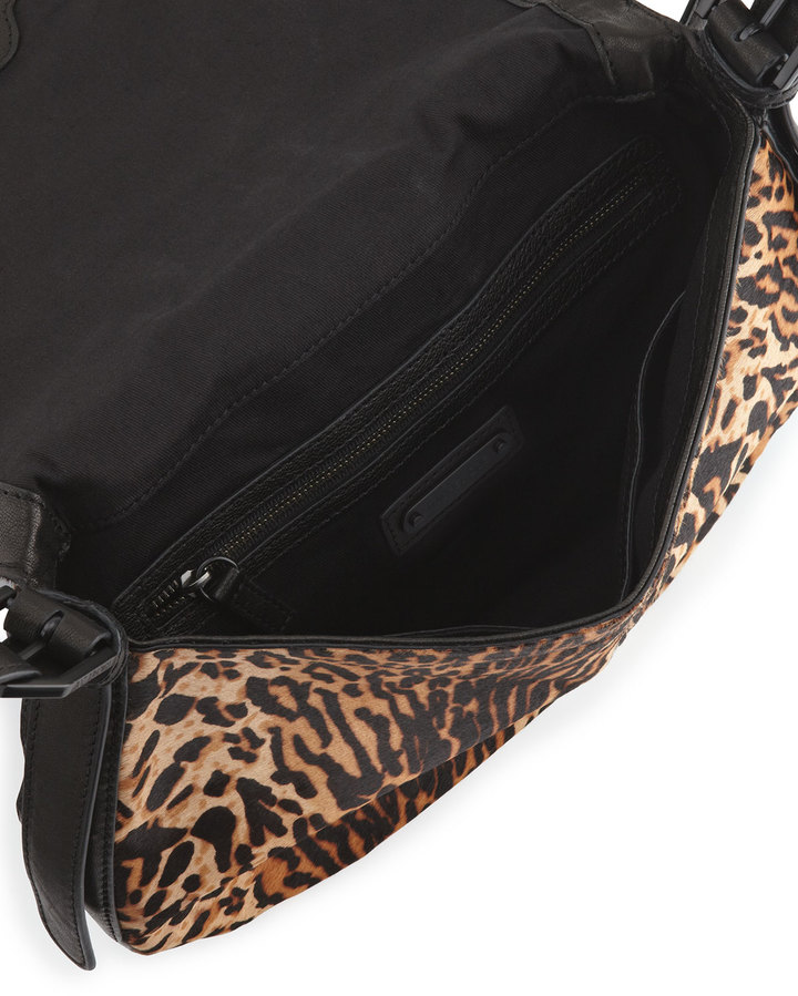 Rachel Zoe Kye Medium Combo Messenger Bag, Leopard