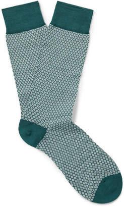Pantherella Dalby Patterned Cotton-Blend Lisle Socks