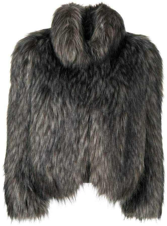 faux fur oversized jacket