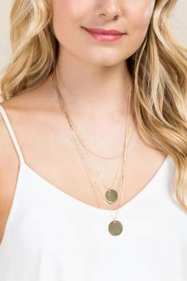Emeley Layered Coin Necklace Set - Gold