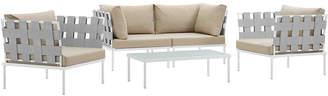 Modway Harmony 5Pc Outdoor Patio Aluminum Sectional Sofa Set