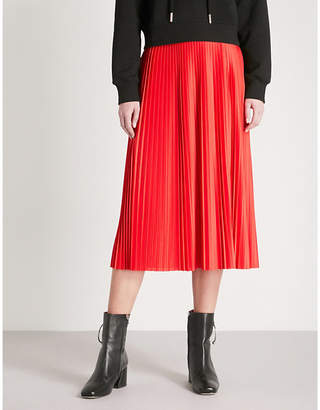 Mo&Co. Pleated satin skirt