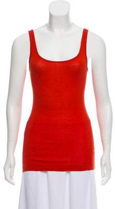 Vince Sleeveless Scoop Neck Top