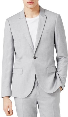 Men's Topman Skinny Fit Crosshatch Suit Jacket $200 thestylecure.com