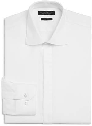 The Men's Store at Bloomingdale's Textured Slim Fit Tuxedo Shirt $95 thestylecure.com