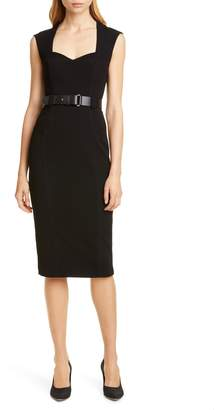 f71d864d551 Karen Millen Elongated Investment Belted Dress