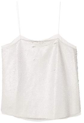 MANGO Reversible sequins top