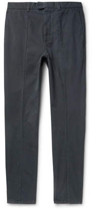 Brunello Cucinelli Slim-Fit Seam-Detailed Cotton-Twill Trousers
