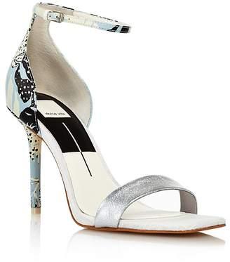 Dolce Vita Women's Halo Satin High Heel Ankle Strap Sandals