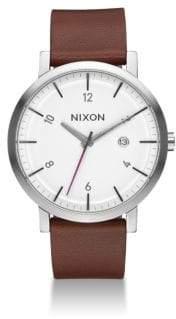 Nixon Rollo Leather Strap Watch