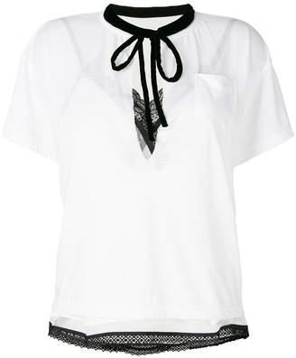 Sacai bow tie T-shirt