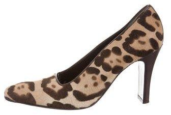 Fendi Ponyhair Leopard Pumps