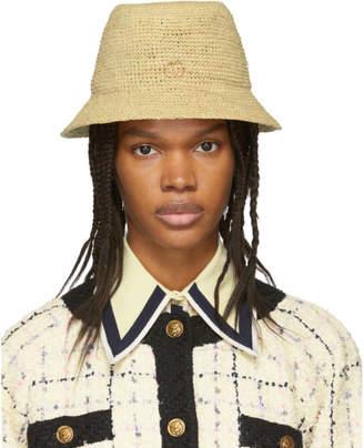 Gucci Beige GG Straw Hat