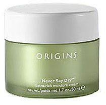 Origins never say dry™ extra-rich moisture cream