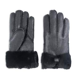 fe3050100 YISEVEN Women's Rugged Sheepskin Shearling Leather Gloves Mittens Sherpa  Fur Wing Cuff Thick Wool Lined and