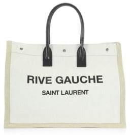 Saint Laurent Rive Gauche Linen Tote