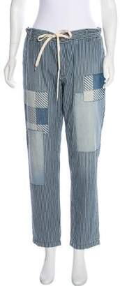 Current/Elliott Mid-Rise Striped Pants w/ Tags