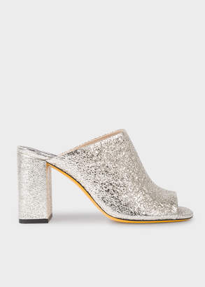 Paul Smith Women's Metallic Silver Leather 'Molly' Heeled Sandals