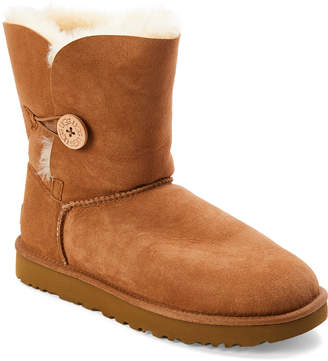 UGG Chestnut Bailey Button II Real Fur Boots