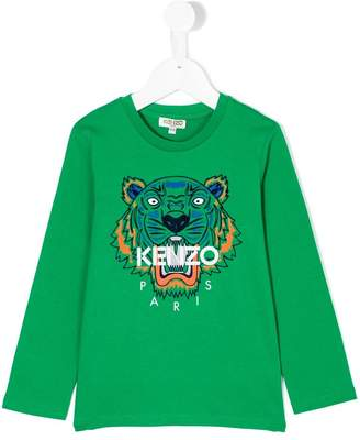 Kenzo tiger printed longsleeved T-shirt