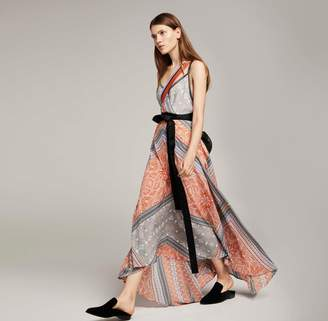 Amanda Wakeley Clementine & Lilac Printed Long Slip Dress