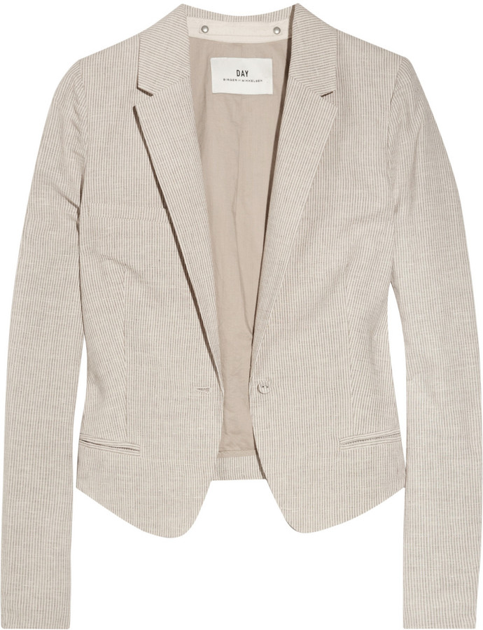 DAY Birger et Mikkelsen South Africa linen and cotton-blend cropped blazer