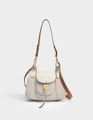 See by Chloe Susie Crossbody Bag in Cement Beige Grained and smooth Cowhide Leather
