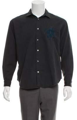 Robert Geller Embroidered Button-Down Shirt