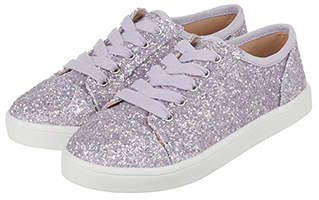 Monsoon Penny Glitter Lace Up Trainers