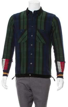 Sacai Patchwork Shirt Jacket