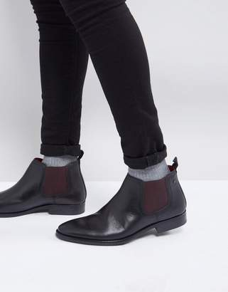 Base London Ramson Leather Chelsea Boots