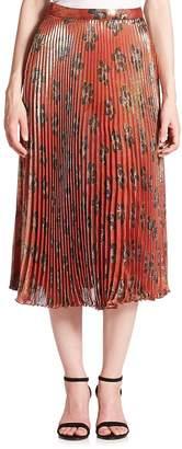 Suno Women's Pleated Midi Skirt