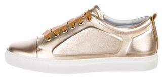 Lanvin Leather Low-Top Sneakers w/ Tags