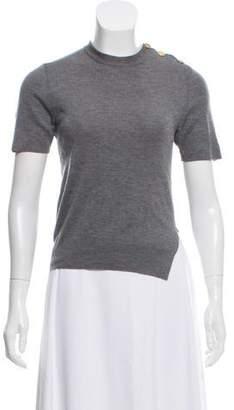 Louis Vuitton Short Sleeve Wool-Cashmere Sweater