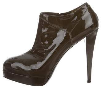 Saint Laurent Patent Leather Platform Boots