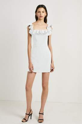 French Connenction Whisper Light Ruffle Off the Shoulder Dress