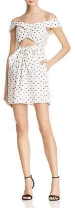 WAYF Capri Off-the-Shoulder Cutout Mini Dress