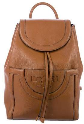 Tory Burch Leather Flap Backpack