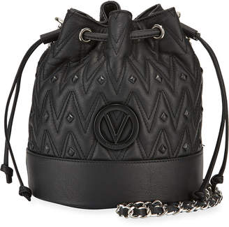 Mario Valentino Valentino By May Quilted Leather Bucket Shoulder Bag