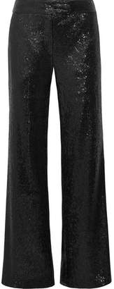 Rachel Zoe Maida Sequined Tulle Wide-leg Pants - Black