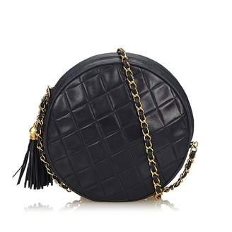 Chanel Vintage Blue Leather Handbag