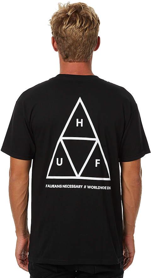 HUF Triple Triangle Mens Tee Black