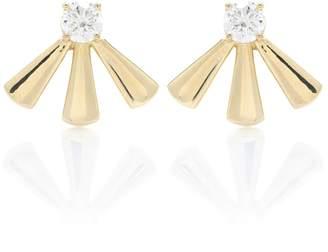 Jemma Wynne 18kt gold diamond earrings