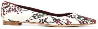 Manolo Blahnik floral print flat ballerina shoes