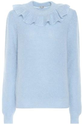 Miu Miu Ruffled mohair-blend sweater