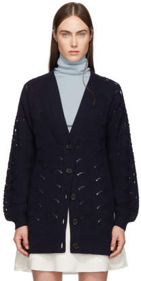 See by Chloe Navy V-Neck Cardigan