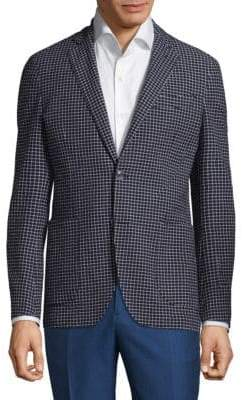 Etro Checkered Slim-Fit Jacket